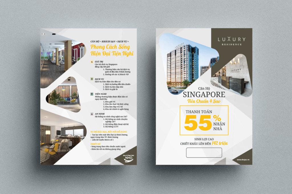 Tờ rơi căn hộ singapore