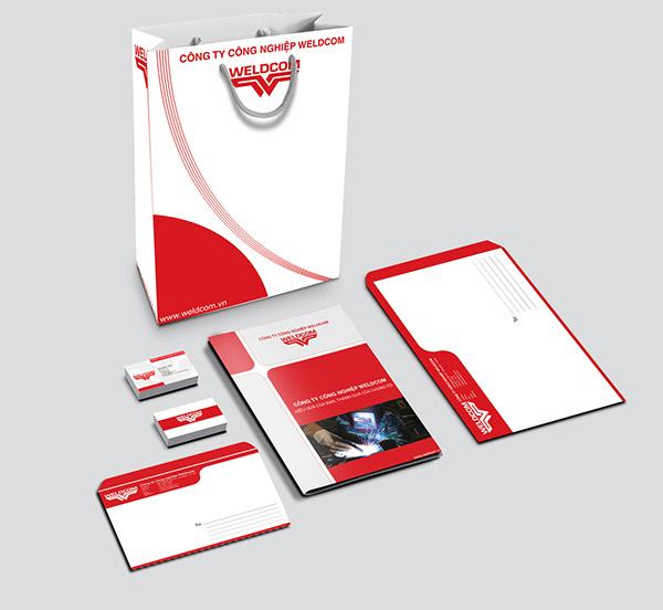 Mẫu thiết kế phong bì công ty công nghiệp Weldcom