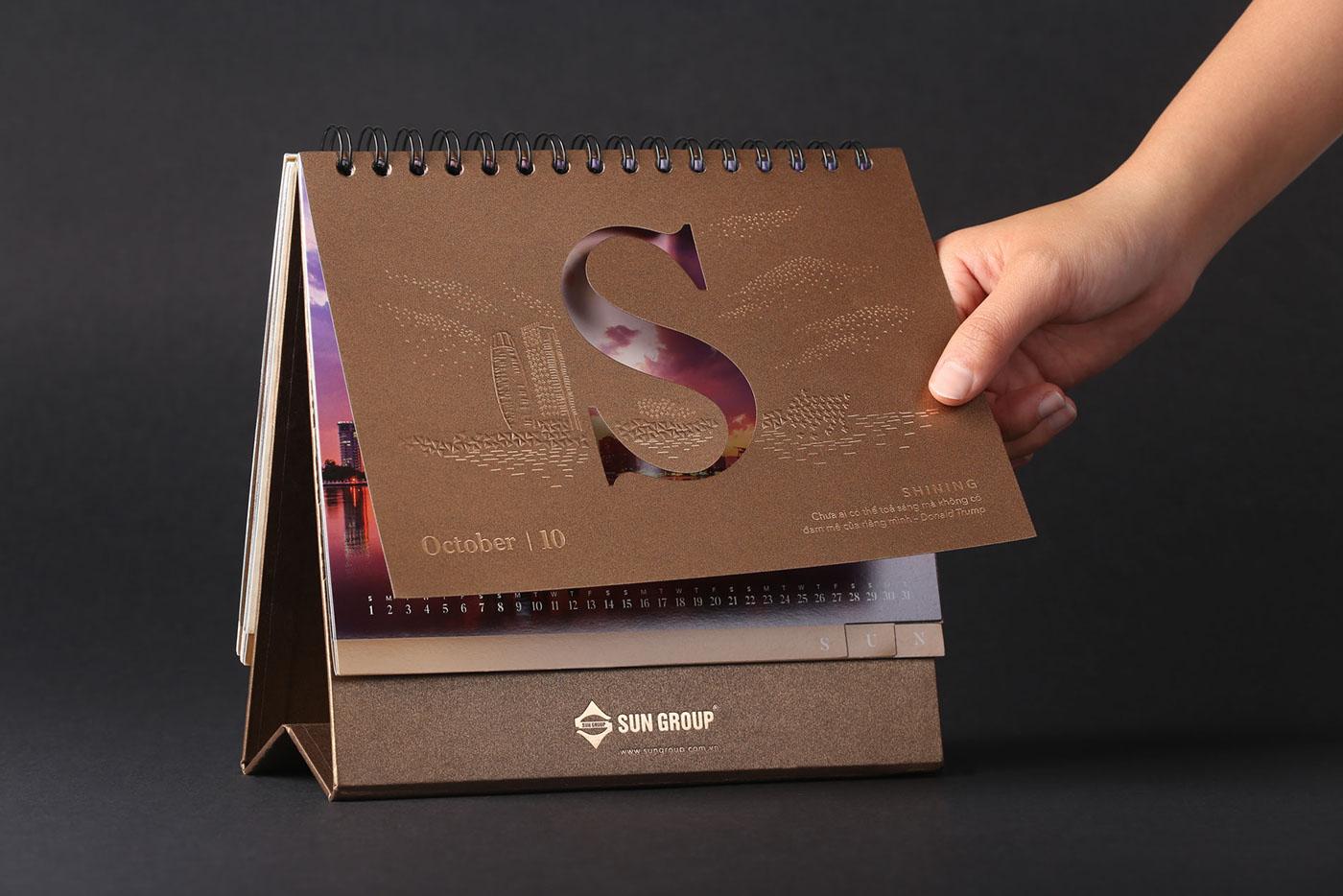 Một cuốn lịch thiết kế mang những nét đặc trưng của doanh nghiệp
