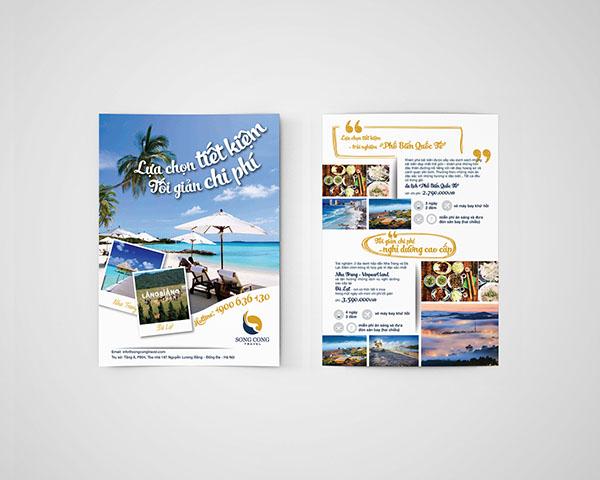 Flyer am thuc thu hut