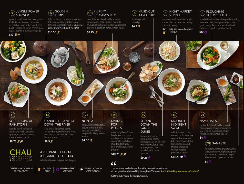 Thiết kế menu cho nhà hàng phương Tây