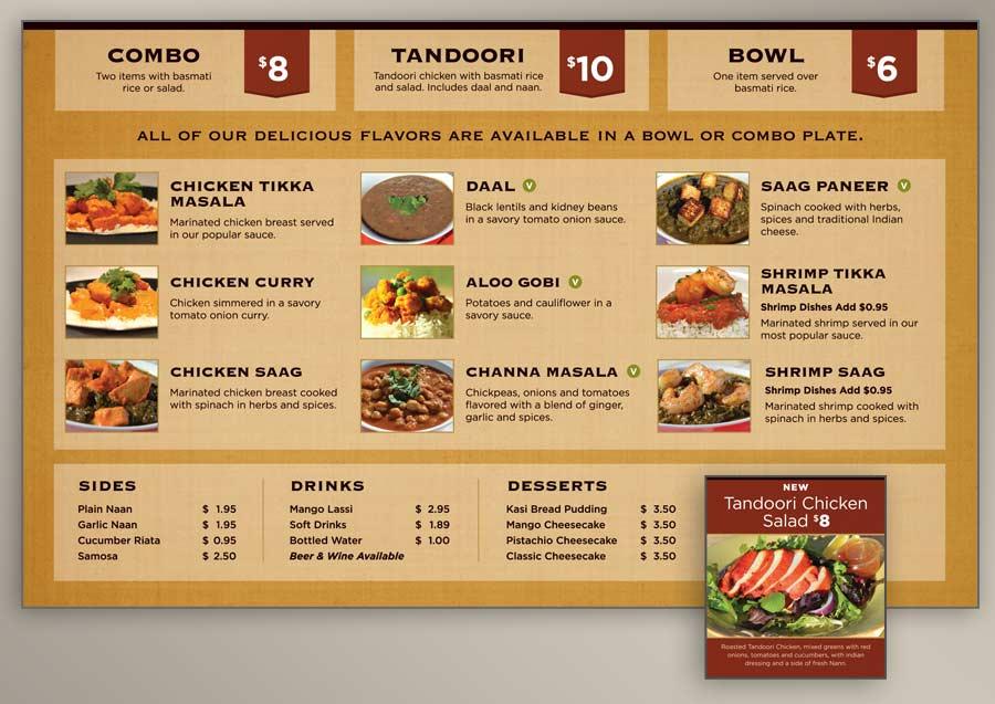 Cũng không thể thiếu những mẫu menu đơn giản