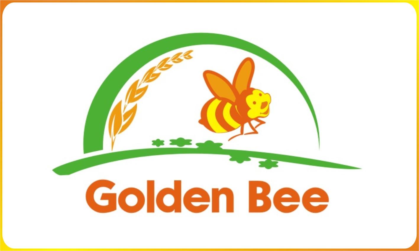 thiet ke logo phan bon la con ong vang