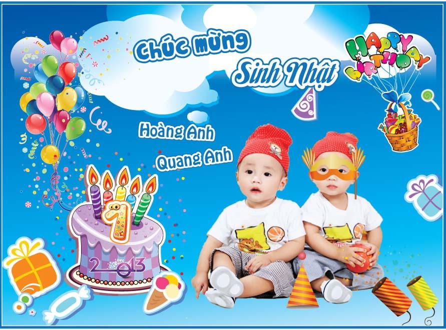 Banner sinh nhật dành cho bé