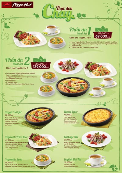 thiet ke menu nha hang do an chay